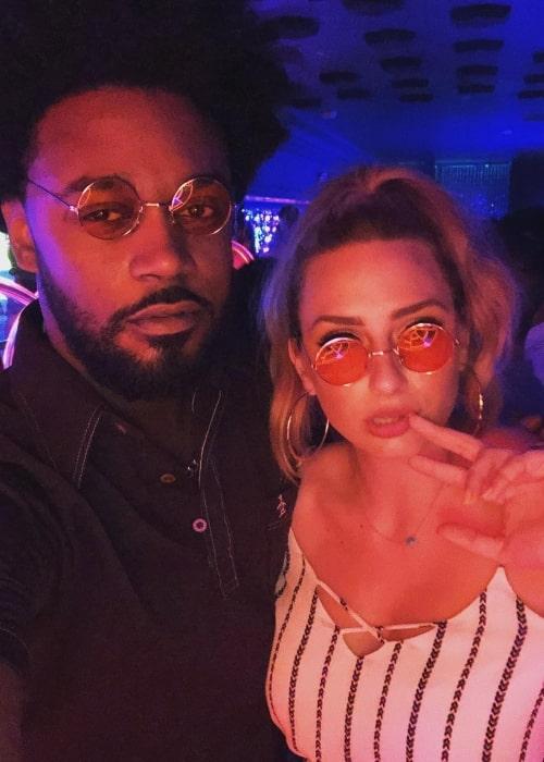 Echo Kellum with Lyndsi LaRose in August 2018