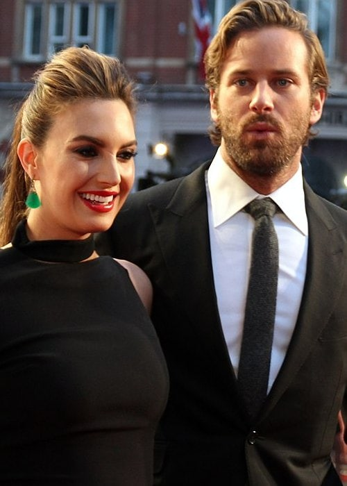 Elizabeth Chambers and Armie Hammer as seen in October 2016