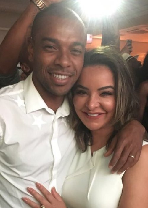 Fernandinho and Glaucia Roza as seen in June 2018