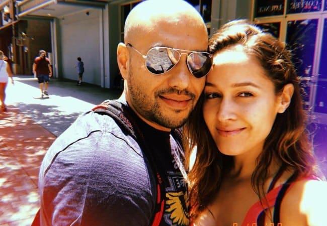 Jaina Lee Ortiz and Bradley Marques in a selfie in August 2018