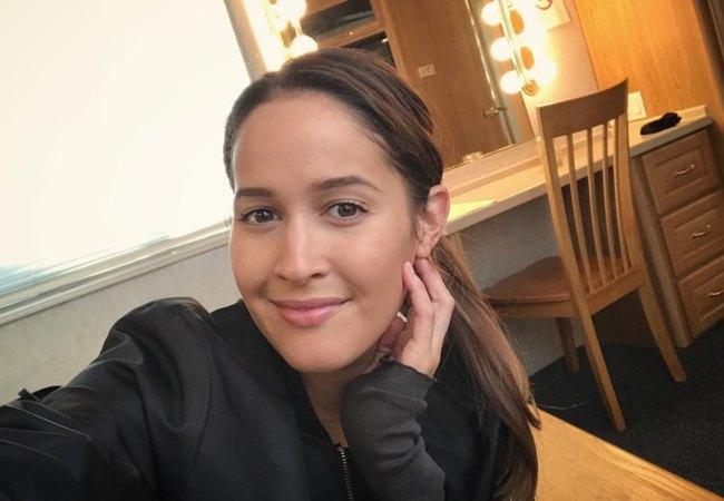 Jaina Lee Ortiz in an Instagram selfie as seen in November 2017