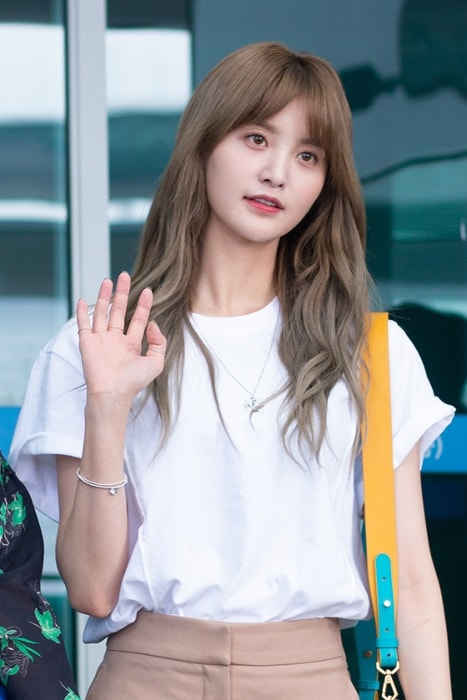 Jeonghwa as seen in June 2018