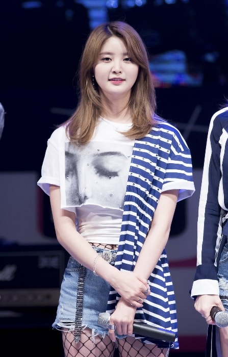 Jeonghwa as seen in May 2017
