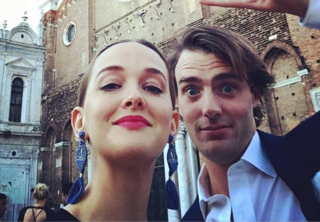 Jess Weixler and Hamish Brocklebank in a selfie in June 2017