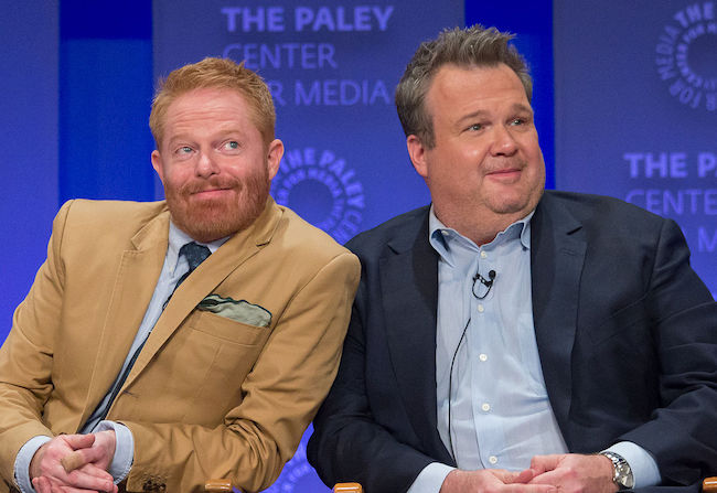 "Jesse Tyler Ferguson and Eric Stonestreet during the 2015 PaleyFest for the show ""Modern Family"""