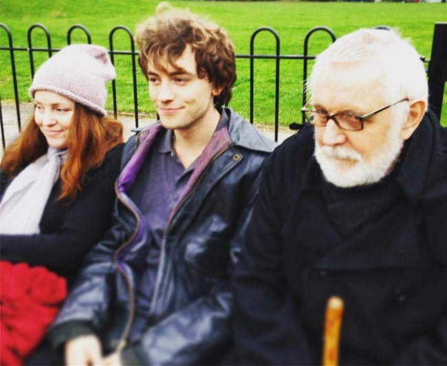 Josh Whitehouse with his dad and his sister
