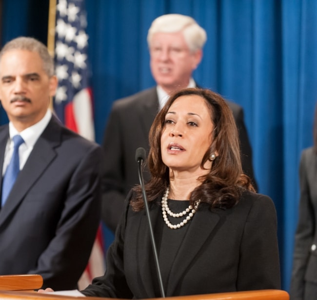 Kamala Harris as seen in February 2013