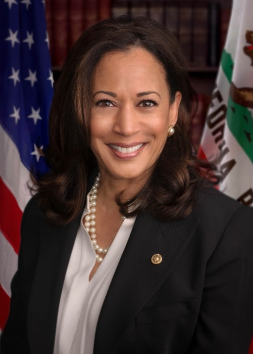 Kamala Harris as seen in her official headshot in May 2017