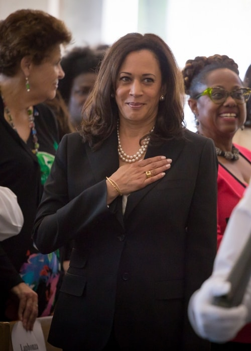 Kamala Harris in Los Angeles Town Hall in April 2017