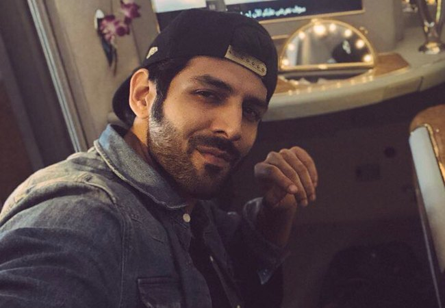 Kartik Aaryan in an Instagram selfie as seen in August 2018