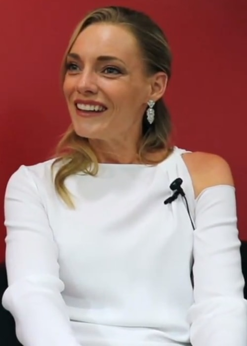 Kelly Harrison as seen during an interview in 2018