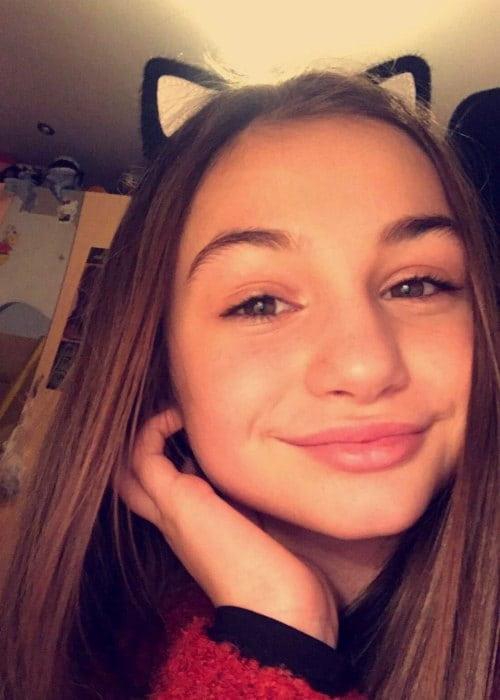 Krisiya Todorova in an Instagram selfie as seen in February 2017