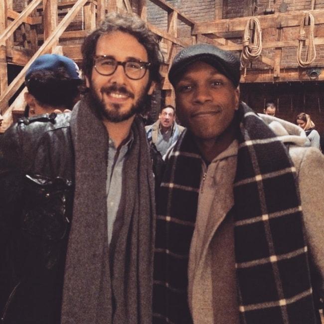 Leslie Odom Jr. (Right) with Josh Groban in November 2015