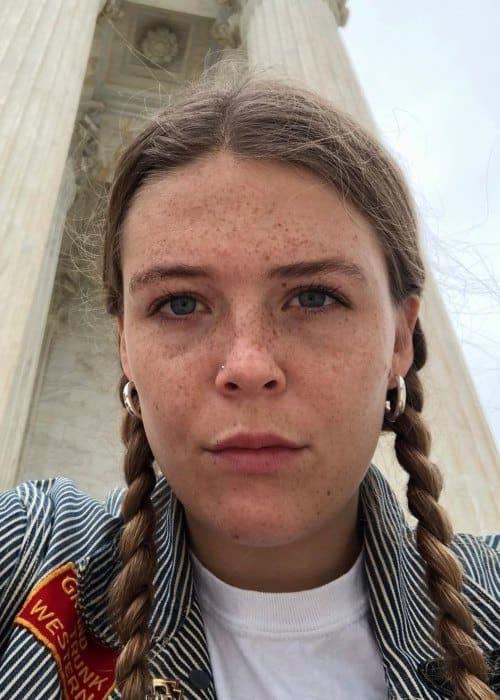 Maggie Rogers in an Instagram selfie as seen in October 2018