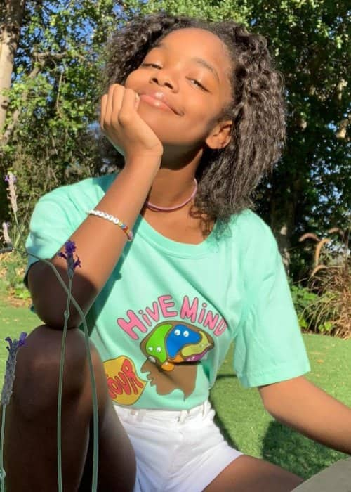 Marsai Martin in an Instagram post in November 2018