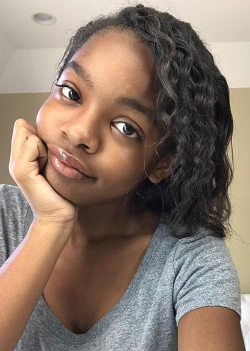 Marsai Martin in an Instagram selfie as seen in August 2018