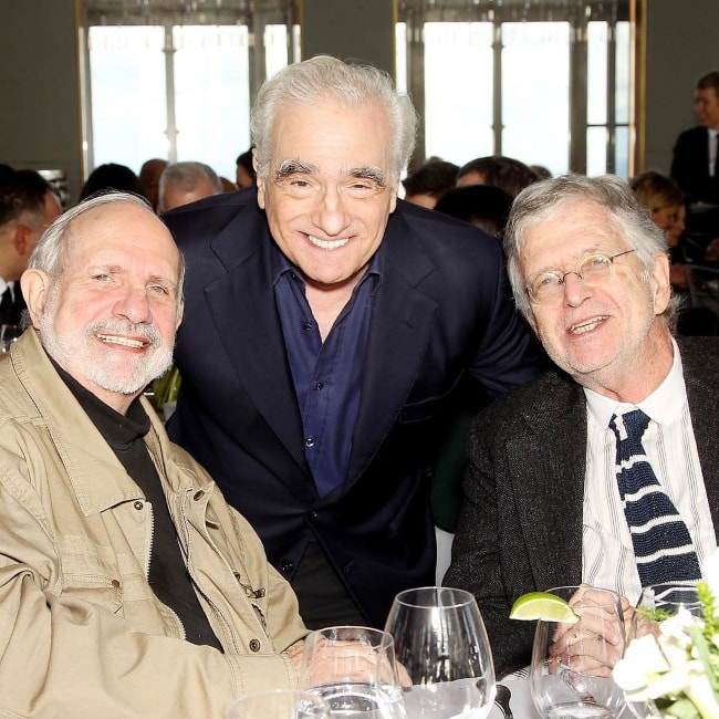 Martin Scorsese (Center) with his friends in January 2017