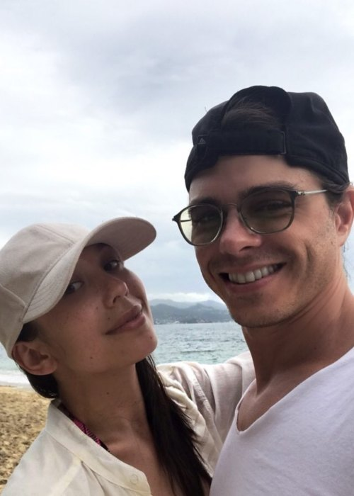 Matthew Lawrence and Cheryl Burke as seen in July 2017