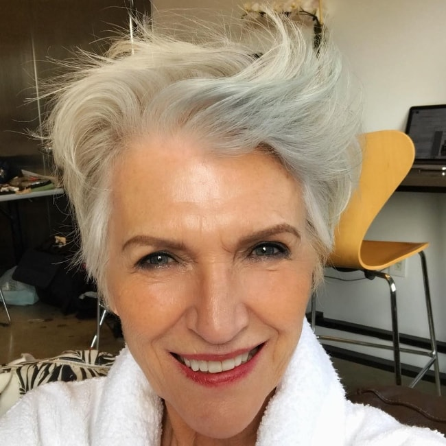 Maye Musk in a selfie at Milk Studios, New York in August 2018