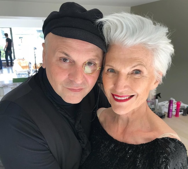 Maye Musk with Sascha Lilic in September 2018