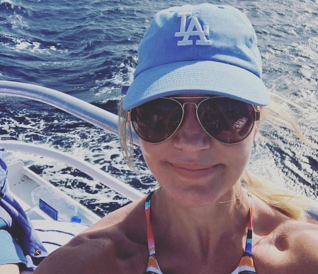 Michelle Beadle in a selfie in Molokini Island in July 2018