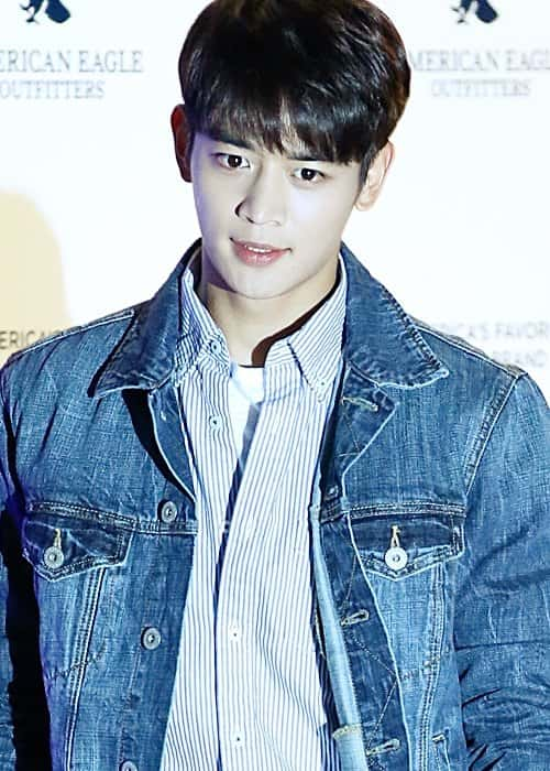 Minho at American Eagle Outfitters launching event in October 2015