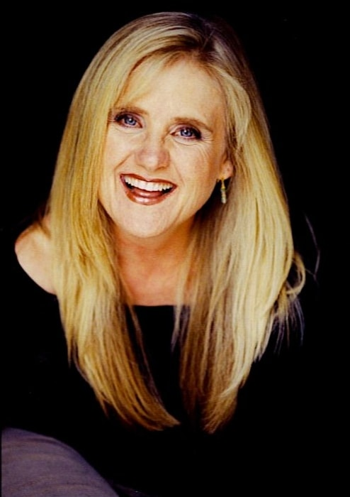 Nancy Cartwright posing with her beautiful smile