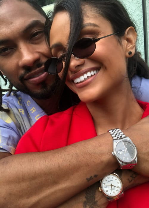 Nazanin Mandi and Miguel as seen in May 2018