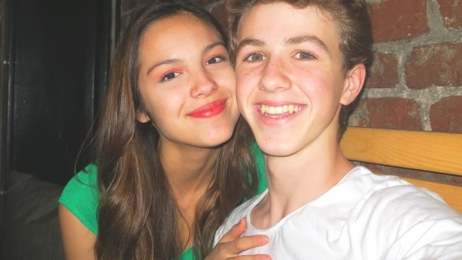 Olivia Rodrigo in a selfie with Ethan Wacker in October 2018
