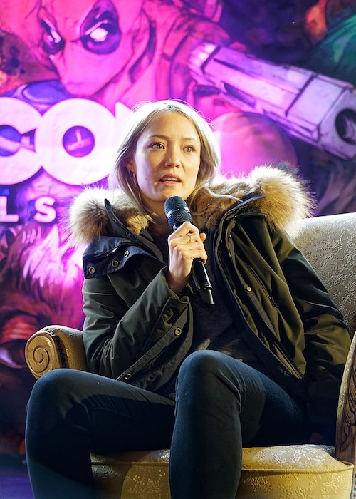 Pom Klementieff at the Brussels Comic-Con in 2018
