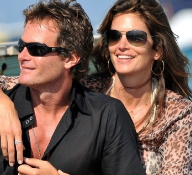 Rande Gerber with Cindy Crawford