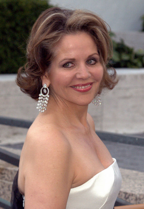 Renée Fleming during the premiere of the Metropolitan Opera in New York City in 2009