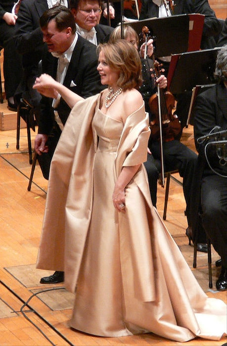 Renée Fleming with Christian Thielemann post the concert at the Philharmonie in Gasteig im 2008