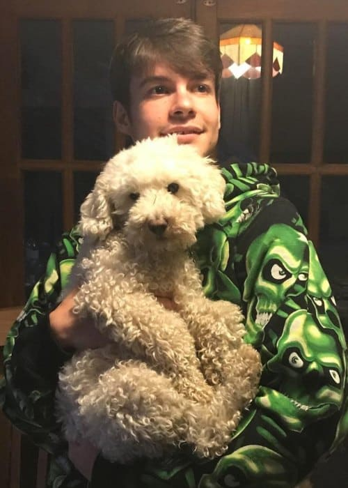 Rex Orange County with his dog as seen in May 2018