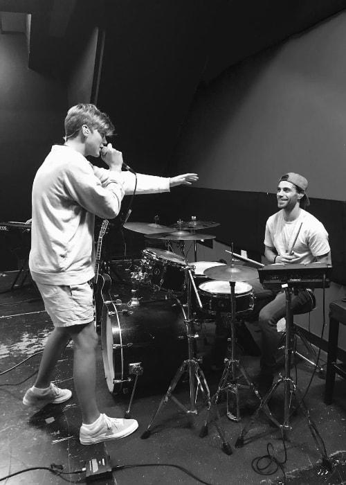 Ruel Van Dijk (Left) as seen while practicing with Jack Robert in March 2018