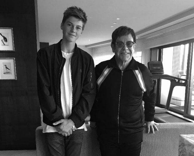 Ruel Van Dijk (Left) with Elton John in October 2017