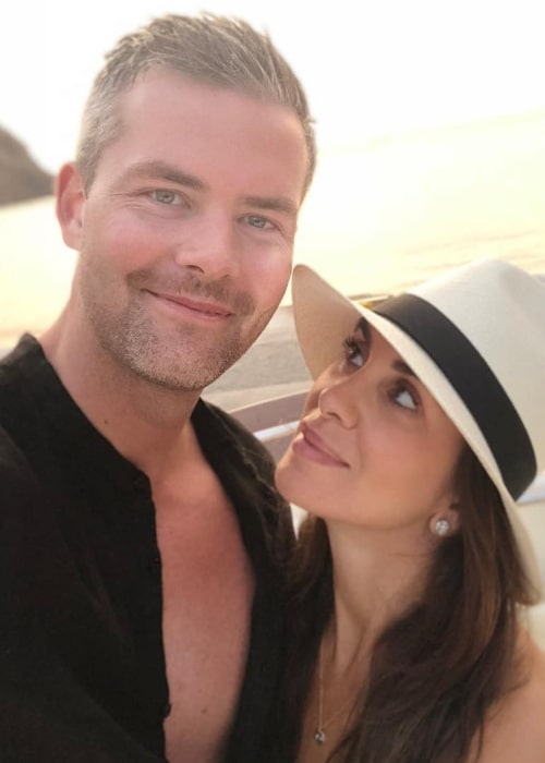 Ryan Serhant in a selfie with Emilia Bechrakis in August 2018