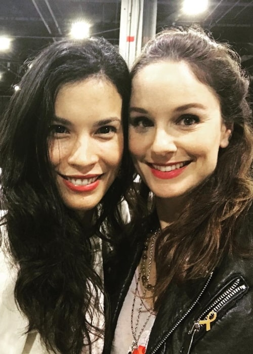 Sarah Wayne Callies (Right) with Danay Garcia in October 2018