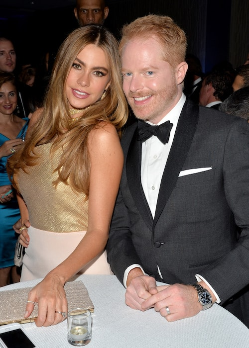 Sofía Vergara (Left) and Jesse Tyler Ferguson at the Yahoo News / ABCNews Pre-White House Correspondents' dinner reception pre-party in 2014