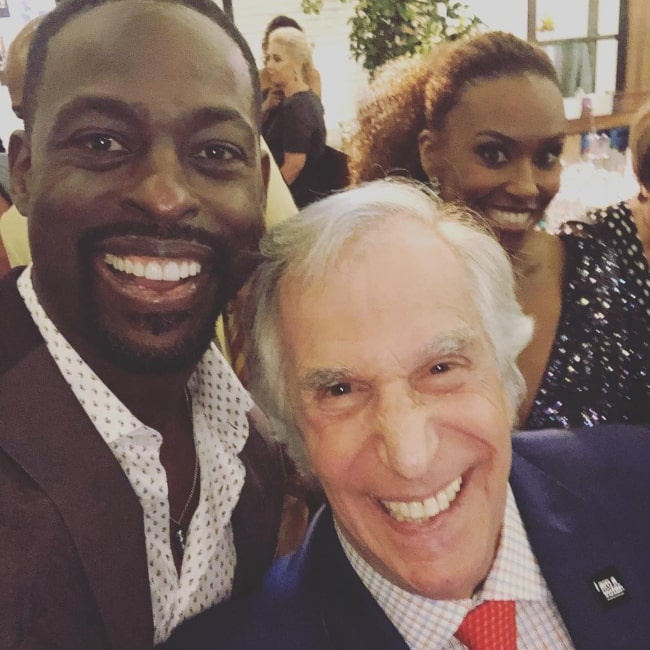 Sterling K. Brown (Left) in a selfie with Mr. Winkler in September 2018