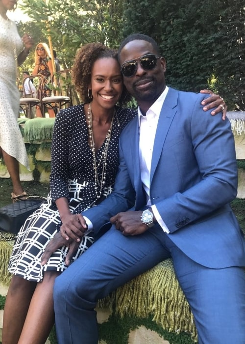 Sterling K. Brown with Ryan Michelle Bathe in October 2017