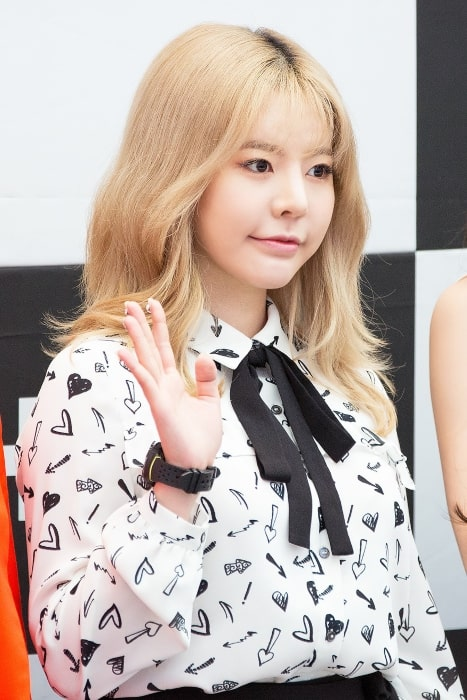 Sunny as seen at Starfield Hanam G-SHOCK fan signing in April 2017
