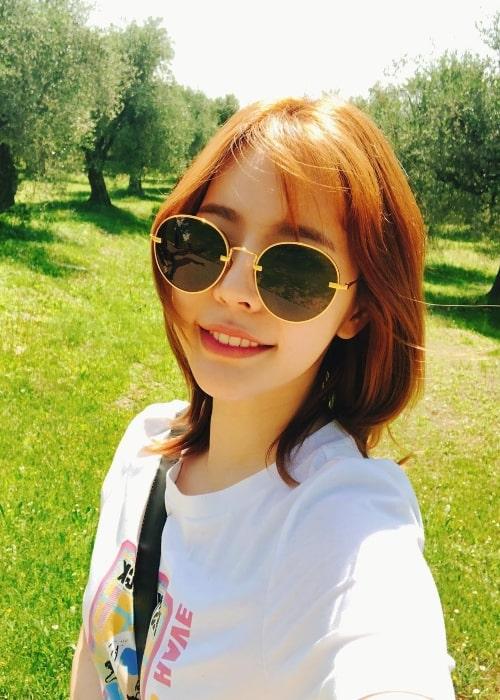 Sunny in a selfie in September 2018