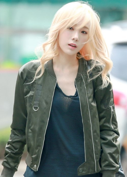 Taeyeon at KBS Music Bank in September 2015