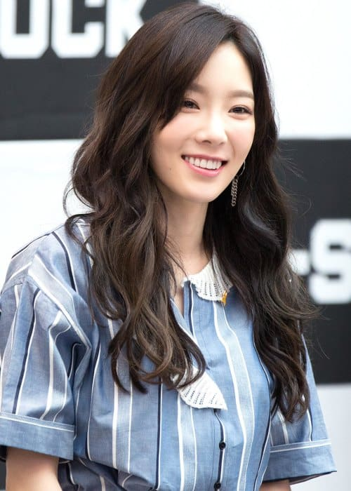 Taeyeon at Starfield Hanam G-SHOCK fan signing in April 2017