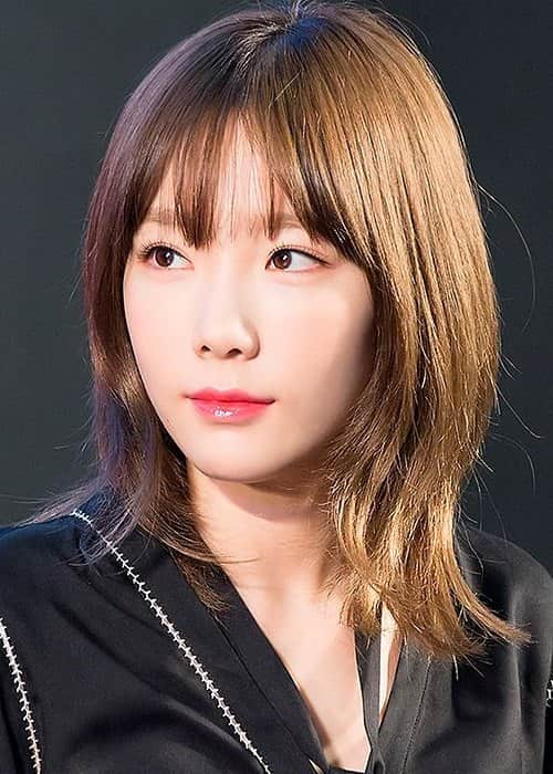 Taeyeon at a fan signing event in November 2016