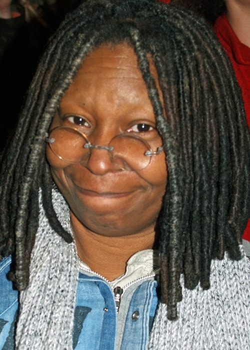 Whoopi Goldberg pictured while in New York City protesting California Proposition 8 (2008)