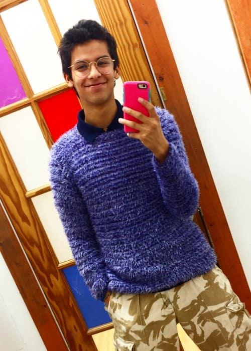 Xolo Maridueña in a selfie as seen in October 2017