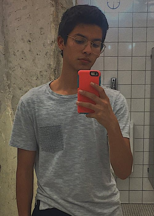 Xolo Maridueña in a selfie in October 2017