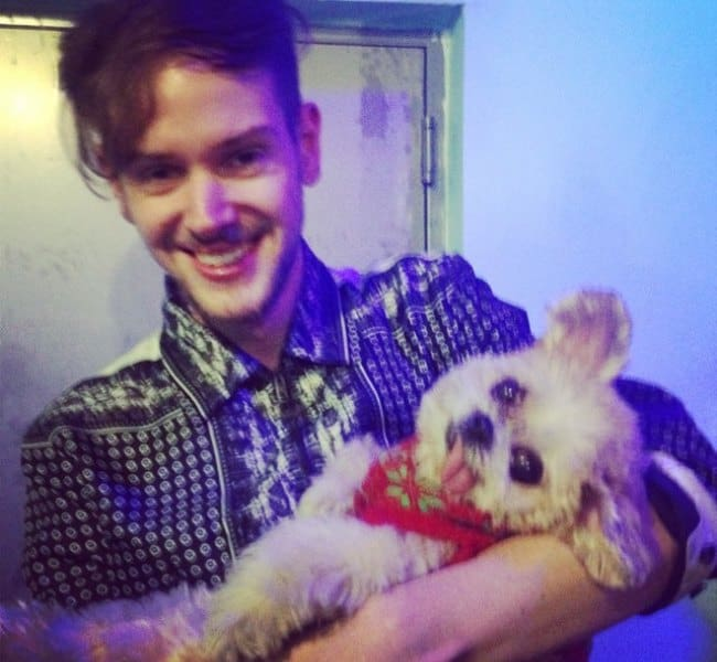 Adam Hann with his dog as seen in December 2014